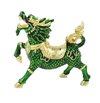 Green Chi Lin Dragon Horses