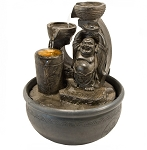 ZENATURE FOUNTAIN - HAPPY BUDDHA LIGHT FOUNTAI