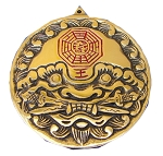 Brass Tiger Head Yin Yang Bagua Mirror