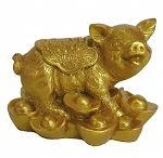 Golden Pig Statues