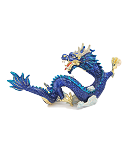 Bejeweled Imperial Celestial Blue Water Dragons