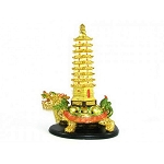 Golden dragon turtle with one wen chang pagoda