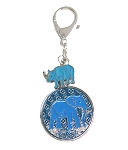 The Anti Robbery Amulet with Blue Rhino and Elephant
