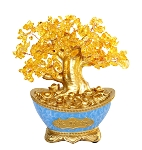 Citrine Trees in Blue Money Pot