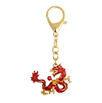 Fire Dragon Holding Fireball Keychains