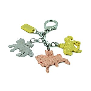 Trinity Of Victory Horses Hanging Keychain