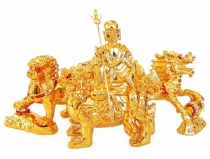 Ksitigarbha with 3 Celestial Protectors